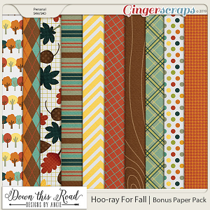 Hoo-ray For Fall | Pattern Paper Pack