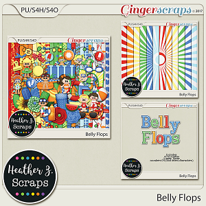 Belly Flops BUNDLE by Heather Z Scraps