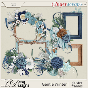 Gentle Winter: Cluster Frames by LDragDesigns