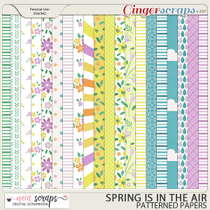 Spring is in the Air - Patterned Papers - by Neia Scraps