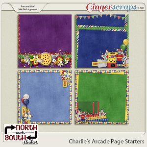 Charlie's Arcade {Page Starters} by North Meets South Studios