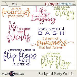Backyard Party Word Art by Karen Schulz
