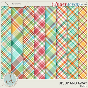 Up, Up And Away Plaids by Ilonka's Designs