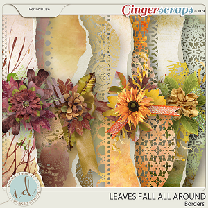 Leaves Fall All Around Borders by Ilonka's Designs