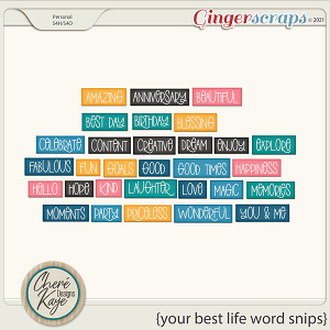 Your Best Life Word Snips by Chere Kaye Designs