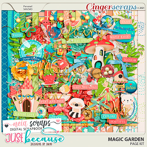 Magic Garden Page Kit by JB Studio and Neia Scraps