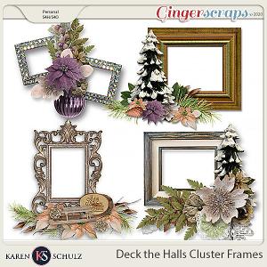Deck the Halls Clustered Frames by Karen Schulz