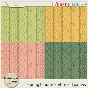 Spring blooms Embossed papers