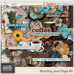 Morning Java Page Kit by Aimee Harrison