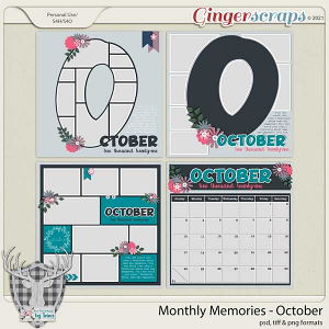Monthly Memories - October by Dear Friends Designs by Trina