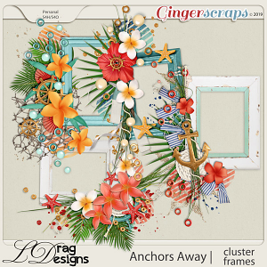 Anchors Away Cluster Frames by LDragDesigns
