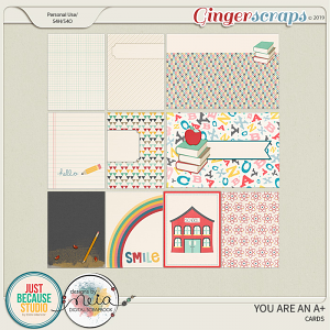 You Are An A+ Journal Cards by JB Studio and Neia Scraps