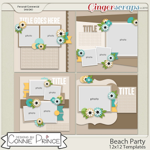 Beach Party - 12x12 Temps (CU Ok) by Connie Prince