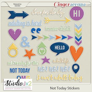 Not Today Sticker Pack