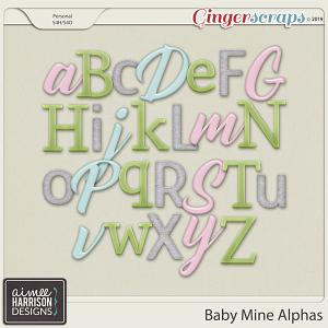 Baby Mine Alpha Sets by Aimee Harrison