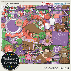 The Zodiac: Taurus KIT by Heather Z Scraps