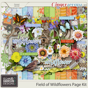 Field of Wildflowers Page Kit by Aimee Harrison