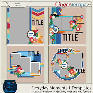 Everyday Moments 1 Templates by Miss Fish