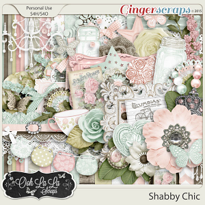 Shabby Chic Digital Scrapbook Kit