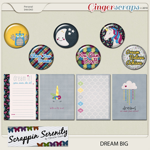 Dream Big Flairs and Journal Cards
