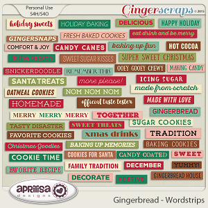 Gingerbread - Wordstrips by Aprilisa Designs