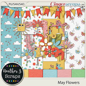 May Flowers MINI KIT by Heather Z Scraps