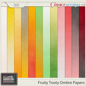 Fruity Tooty Ombre Papers by Aimee Harrison