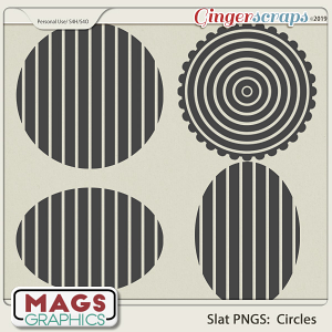 SLAT CIRCLES PNG Templates by MagsGraphics