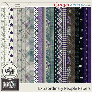 Extraordinary People Paper Pack by Aimee Harrison and JB Studio