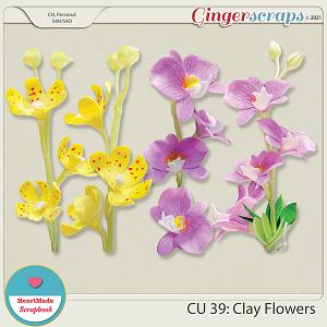 CU 39- Clay flowers