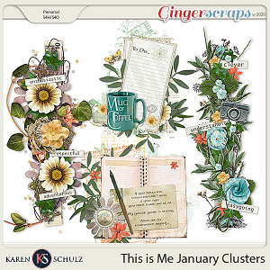 This is Me January Clusters by Karen Schulz