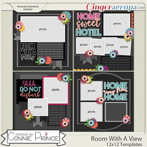 Room With A View - 12x12 Templates (CU Ok) by Connie Prince
