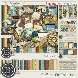 Caffeine Fix Digital Scrapbook Bundle