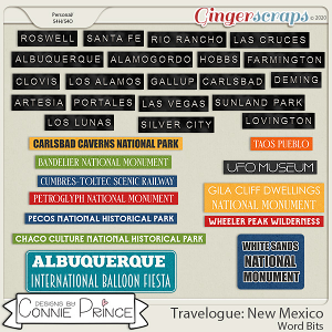 Travelogue New Mexico - Word Bits by Connie Prince