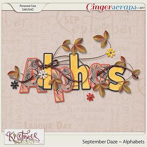 September Daze Alphabet
