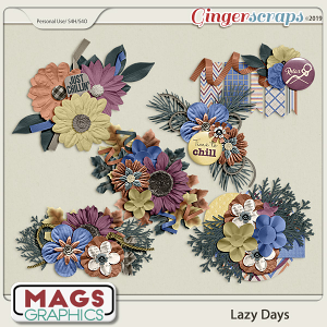 Lazy Days CLUSTERS by MagsGraphics