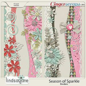 Season of Sparkle Borders by Lindsay Jane