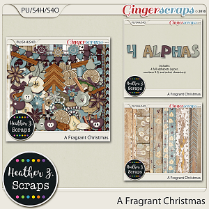 A Fragrant Christmas BUNDLE by Heather Z Scraps