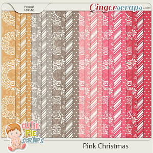 Pink Christmas Pattern Papers