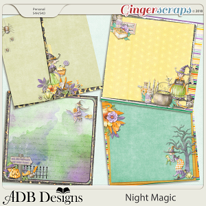 Night Magic Stacked Papers by ADB Designs