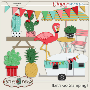 Let's Go Glamping CU Templates Pack 1 by Scraps N Pieces