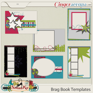 CU 4x6 Brag Book Templates by The Scrappy Kat