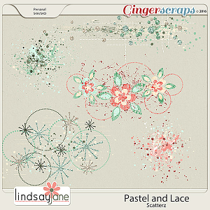 Pastel and Lace Scatterz by Lindsay Jane