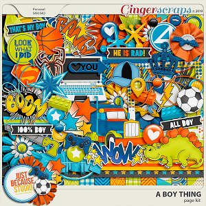 A Boy Thing Page Kit by JB Studio