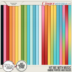 Hit Me with Music - Ombre papers & Solids - by Neia Scraps & JB Studio