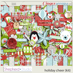 Holiday Cheer Digital Scrapbooking Kit by Shepherd Studio