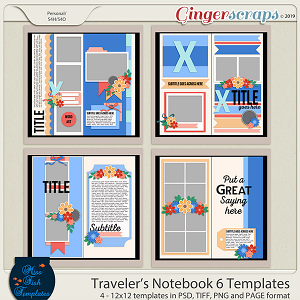 Travelers Notebook 6 Templates by Miss Fish