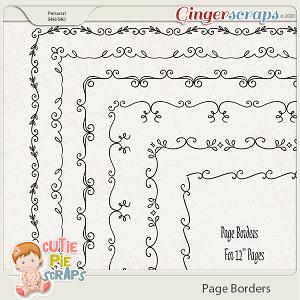 Page Borders 01 By Cutie Pie Scraps
