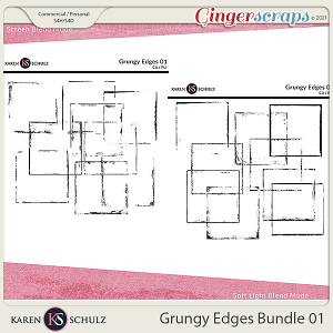 Grungy Edges Bundle 01 by Karen Schulz