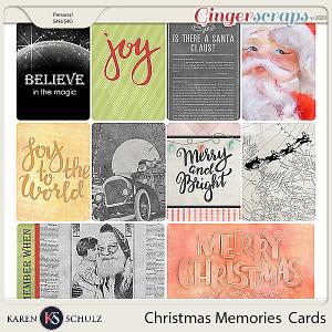 Christmas Memories Pocket Cards by Karen Schulz